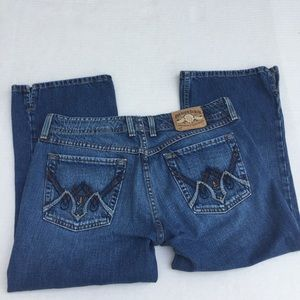 Lucky Brand Women's Aztec Wonder Crop Jeans